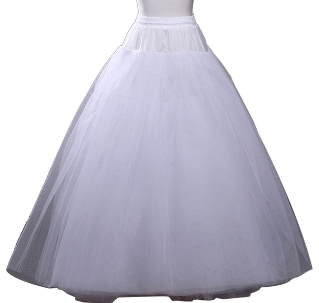 SK Studio Wedding Bridal Petticoat Full Length Underskirt White SK-MUOMQ-Q005-6