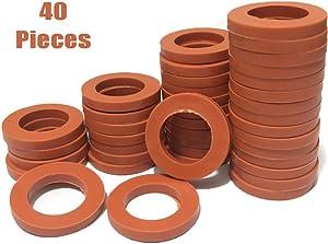 KUANSHENG Garden Hose Washers Rubber Washers Seals 40 Pieces Red