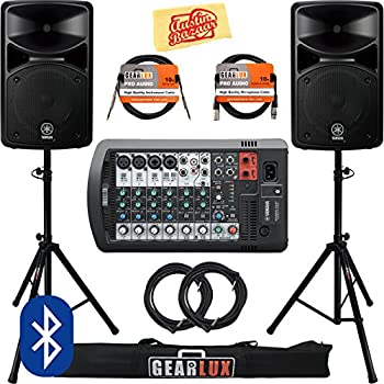 yamaha stagepas 400bt portable pa system bundle with speaker stands cables and. Black Bedroom Furniture Sets. Home Design Ideas