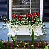 "Mayne Fairfield 36"" Window Box Combo with Corbel Brackets - White 3'"