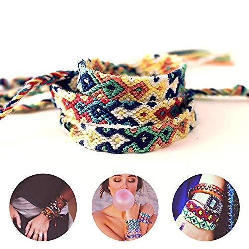 LoveInUSA Colorful Nepal Style Woven Friendship Bracelets  8 PCS