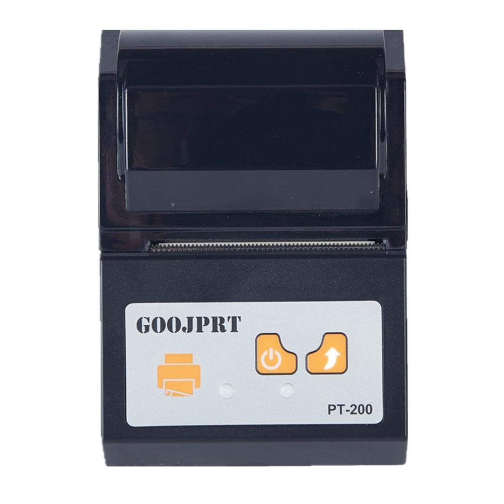 GOOJPRT Imprimante Thermique sans Fil USB Mini 58mm Portable Ticket de reç u USB POS Compatible iOS, Android Windows