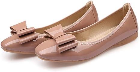WULIFANG Características otoño Retro Pajarita Zapatos de Mujer ...