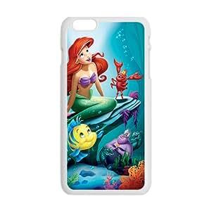 Custom dibujos animados Ariel The Little Mermaid Case Skin For iPhone 6Plus