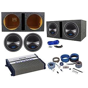 "2 Alpine Type-S SWS-12D4 12"" 1500w Subwoofers+Vented Box+Hifonics Amplifier+Kit"