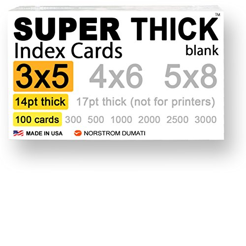 100 SUPER THICK index cards / 3