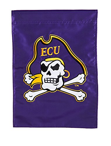 (Team Sports America Applique East Carolina Pirates Purple and Gold House Flag, 29 x 44 inches)