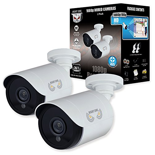 Night Owl Security, 2 Pack Add–On 1080p HD Wired Security Bullet Cameras (White) by Night Owl (Image #2)