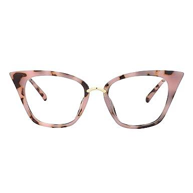 fb0ed46d7c Zeelool Original Cute Cat Eye Glasses Frame for Women Martha FA0457-01 Pink  Tortoise