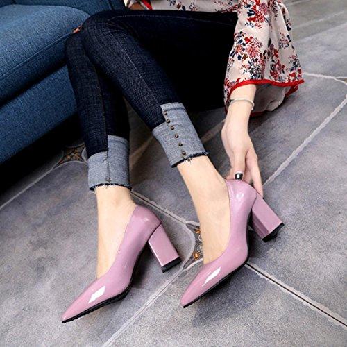 Square Buckle Platform Pink Heel Shoes Spring Sandals Longra Boots Chunky Elegant Ladies Women's Women Summer Ankle Lady High qvxOzAw