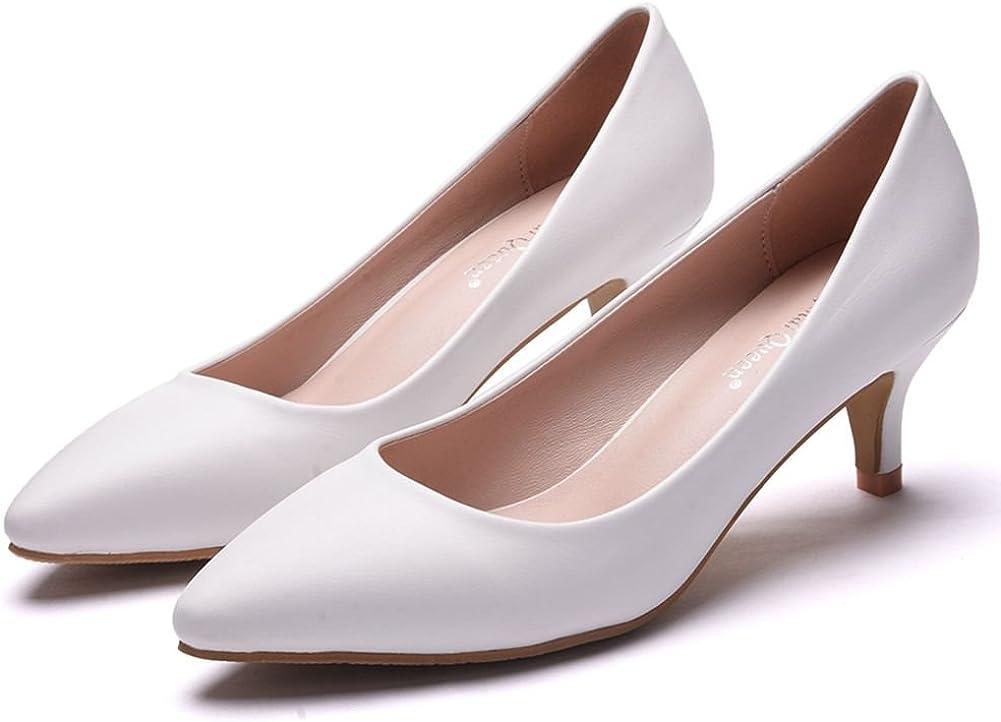 Thick Heel Shoes Low Kitten Heel Pumps