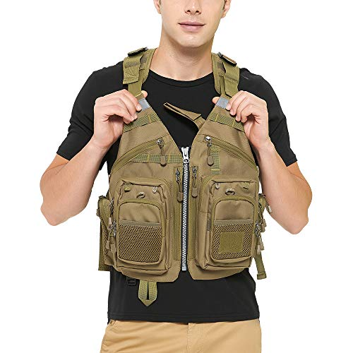 Obcursco Fly Fishing Vest for Men and Women with Breathable Mesh, Trout Fishing Gear, for Outdoors Stream Fishing