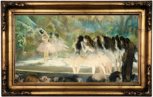 Framed Canvas 1877 (Historic Art Gallery Ballet At the Paris Opera 1877 by Edgar Degas Framed Canvas Print, 12