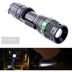 1Pc Wonderful Popular 3000 Lumen LED Flashlight Light Adjustable Focus Aluminum Alloy Zoom Lamp Colors Black