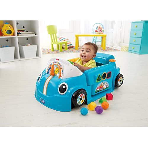 Fisher-Price Laugh & Learn Smart Stages Crawl Around Car, Blue