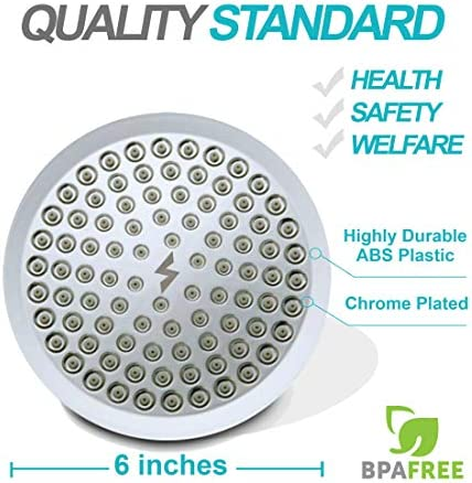 SparkPod Shower Head - High Pressure Rain - Luxury Modern Chrome Look - Easy Tool Free Installation - The Perfect Adjustable Replacement For Your Bathroom Shower Heads 4