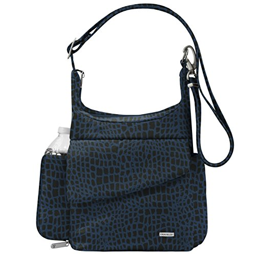 Travelon Anti-Theft Classic Messenger Bag, Blue Leopard