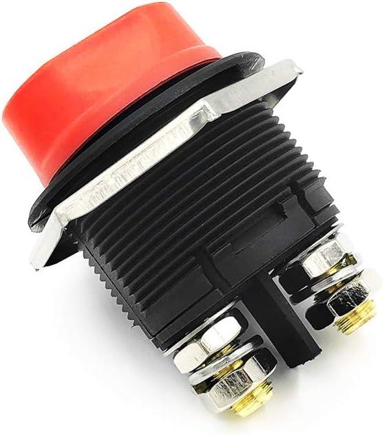 WIWIR Auto Batterie Trennschalter Hauptschalter 100A ON-Off-Out Einbau Stromschalter f/ür Motorrad LKW KFZ Boot 12V 24V bis 32V