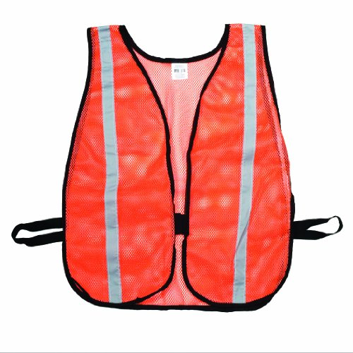 Mesh Vest Poly Safety - Mutual 16300 High Visibilty Soft Poly Mesh Safety Vest with 1