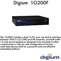 Digium 1G200F Two Span Digital T1/E1/PRI to VoIP Gateway Appliance