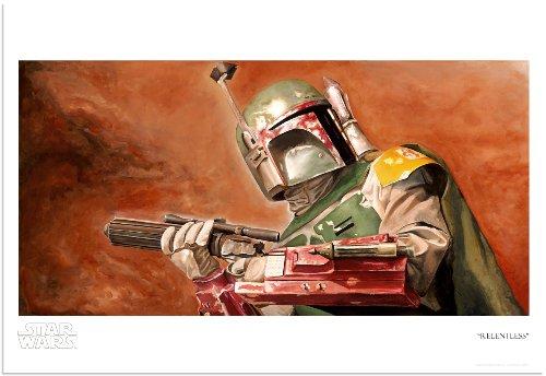 RELENTLESS Star Wars Boba Fett Limited Edition Fine Art Giclée Print on Paper by Greg Lipton