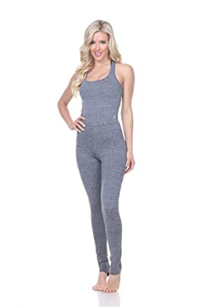 a57764c291 Women s Sexy Heather Grey Breathable Barre Performance Unitard Athletic  Bodysuit