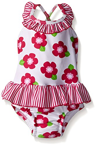 i play. Baby Girls' Ruffle Swimsuit with Built-In