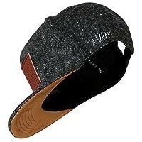 Nebelkind Unisex Snapback Cap Provocateur Lederpatch Kappe Grau One Size