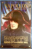 NAPOLEON MOVIE POSTER Radio City Music Hall 1981 Premiere Poster-Abel Gance