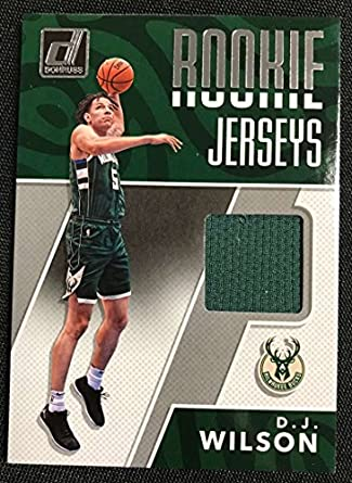 6d4d2f0c71c Amazon.com: 2017-18 Donruss Rookie Jerseys #36 D.J. Wilson MEM Bucks ...