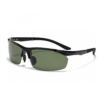 HONEY Männer Sport Sonnenbrillen-TR90 Polarisierte Fahr Angeln Gläser - Matte Black / Bright Black Frame ( Farbe : Hell , größe : Green lens )