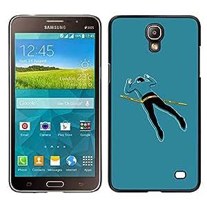 LECELL--Funda protectora / Cubierta / Piel For Samsung Galaxy Mega 2 -- Cuerpo divertido la escena del crimen --