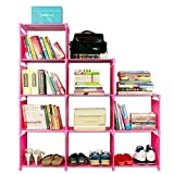 Bookshelf for Kids, Adjustable Home Furniture Bookcase Storage with 9 Shelves
