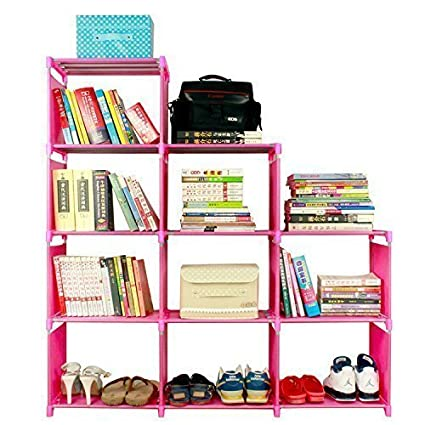 BATHWA 9 Cube Childrenu0027s Bookcase And Bookshelves Adjustable DIY Cabinet  Cube Bookshelf Closet Shelf Unit