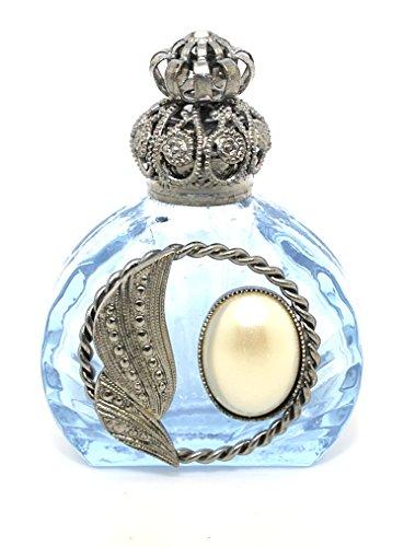 Czech Jewelled Decorative Perfume Oil Bottle Holder (Lavender)