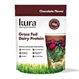 Kura Grass Fed Dairy Protein Powder, Chocolate, New Zealand Born, 10Count Single-Serve Travel Packets