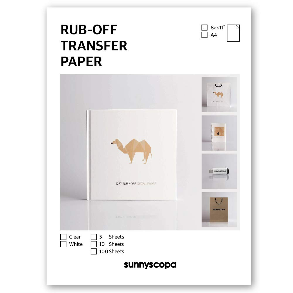 Sunnyscopa De inyecci/ón de tinta seca manchas transferencia papel A4 5 hojas