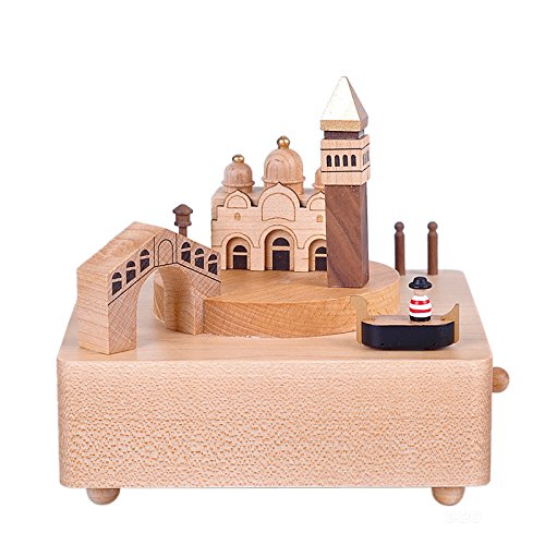 玄関先迄納品 bestsunny Venetian B01HBJ93FA Castle Wooden Wooden Venetian Musicalボックスyb029 B01HBJ93FA, 信州発 そばぶるまい:d1812363 --- arcego.dominiotemporario.com