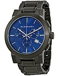 Burberry Mens Swiss Chronograph Gray Ion-Plated Stainless Steel Bracelet Watch 42mm BU9365