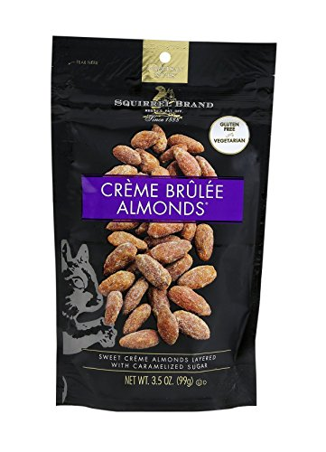 SQUIRREL BRAND Artisan Nuts Creme Brulee Almonds, 3.5 ounce (Pack of 6)