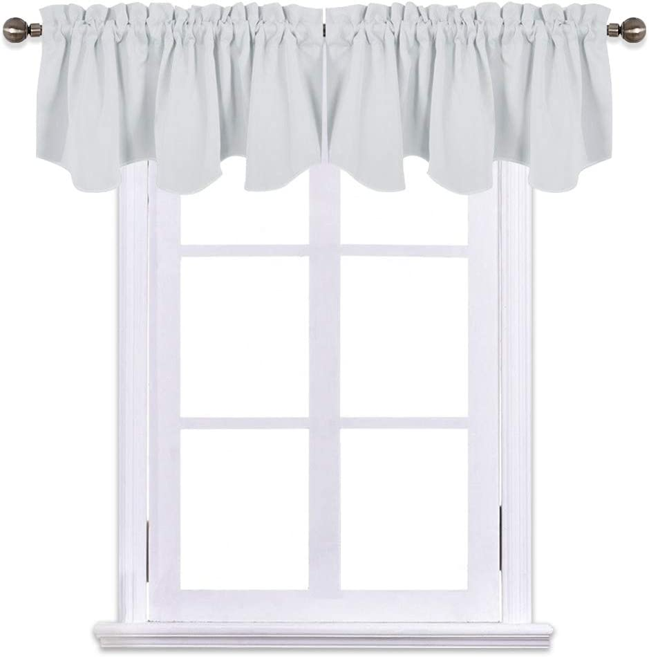 NICETOWN Blackout Valances for Girls Room 22 inches by 22 inches