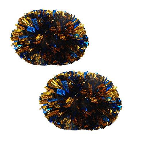 plastique Poms en 120g Cheerleading paire Gold Baton Grand poignée Bleu awXqxEOt