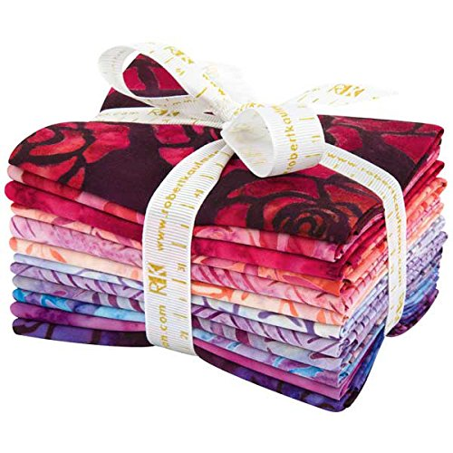 Lunn Studios Artisan Batiks Splendid 4 12 Fat Quarter Bundle Robert Kaufman Fabrics FQ-1113-12 (Fq Quilt Fabric)