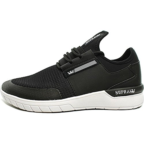 Supra Flow Run Scarpa Da Skate Nero / Nero / Bianco Multi Serpente