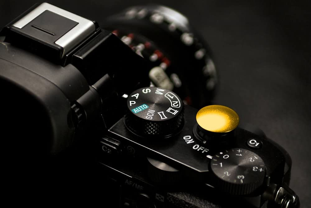 Lolumina 13MM Diameter Gold MK.II Soft-Release Button Complete Kit for Fujifilm X-T1 Sony A7