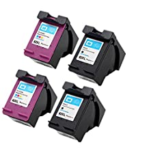 ESTON 4 Pack Ink Cartridges for HP 62XL HP Envy 5540 5640 5642 5643 5660 7640 7645