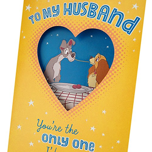 Hallmark Funny Father's Day Greeting Card for Husband or Significant Other (Disney Lady and the Tramp) Photo #3