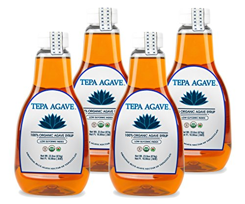 100% Agave Tequila (Tepa Agave 100% Pure Organic Blue Agave Syrup - Light Agave Flavor 4PK - 23.8 oz)