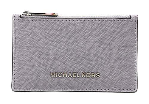 Michael Kors Jet Set Travel Slim Leather Zip Card Case Wallet in Lilac