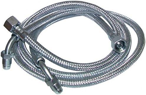 2 pi/èces F3//8 x M1//4 /à bague coud/é 90/° longueur 900mm Franco belge - : 183005 Flexible fioul